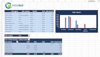 Example sales report