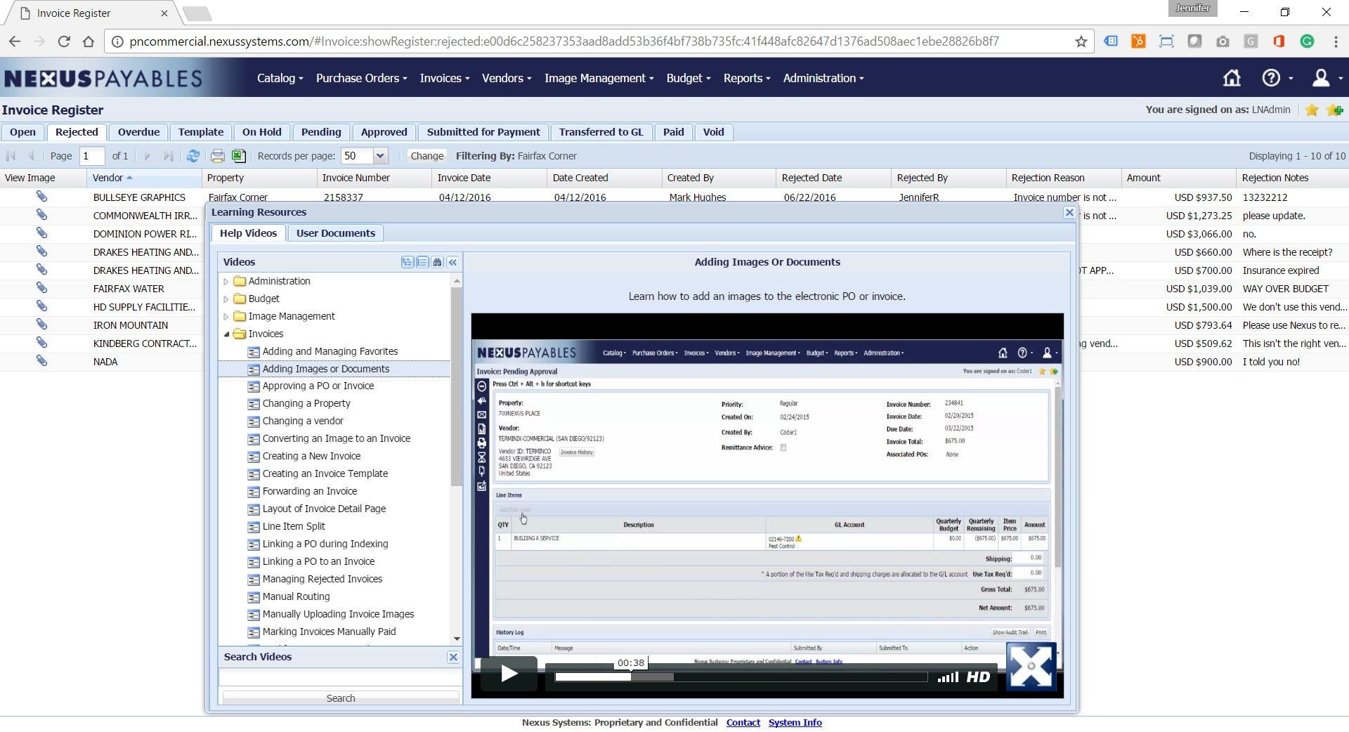 Embedded user training