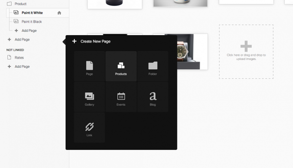 Create product page