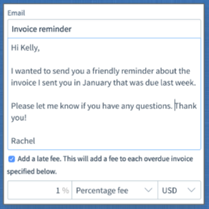 Invoice reminder