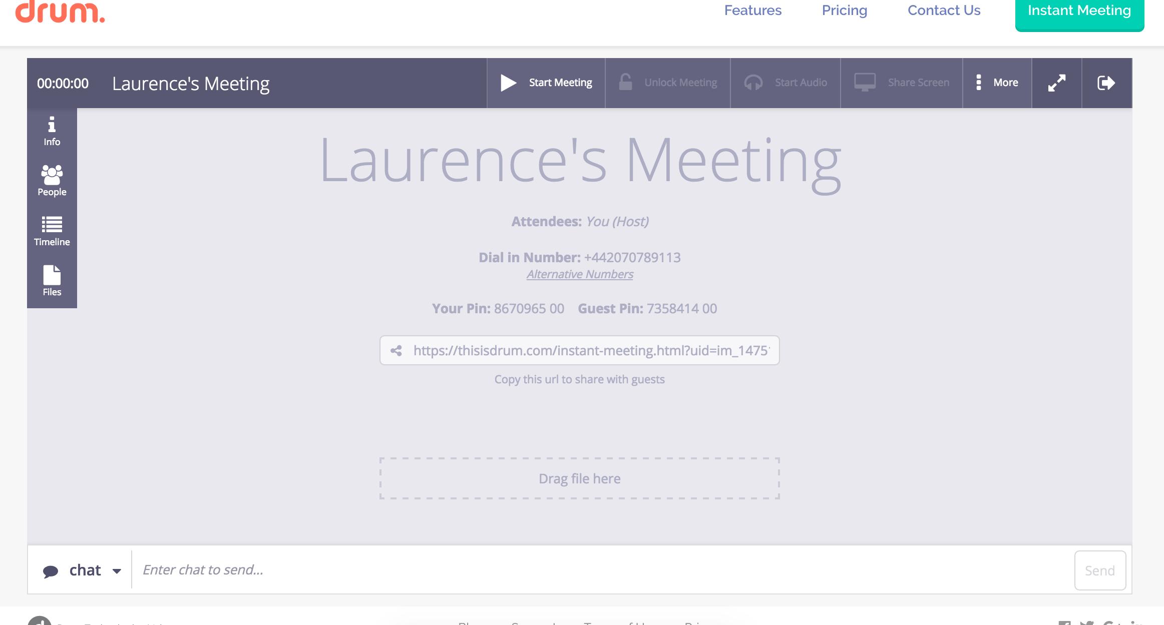 Meeting dashboard