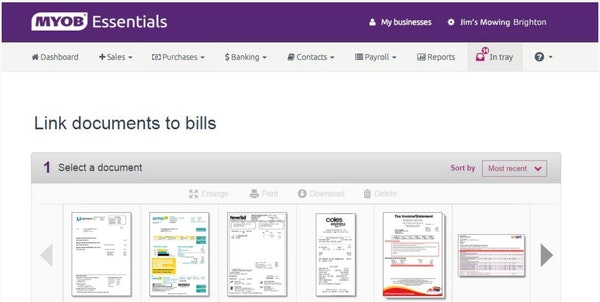 Connect bills to documents
