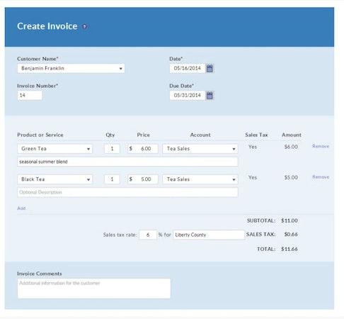 Create invoice
