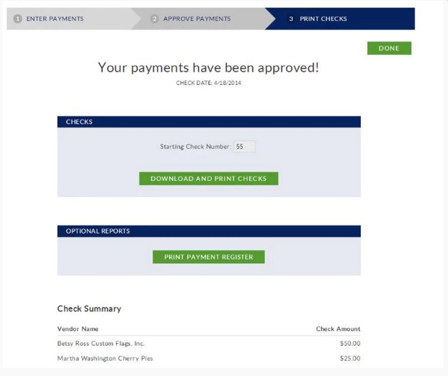 Payment approval