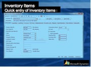 Microsoft Dynamics SL for Construction - Inventory Items