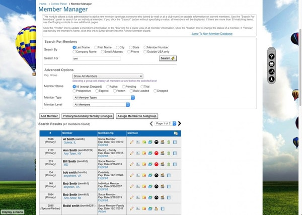 Member manager