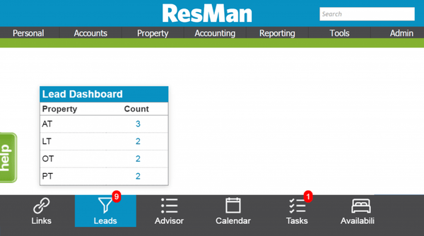 Lead dashboard