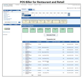 POS biller for restaurant and retail