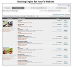 Booking engine for hotel's website