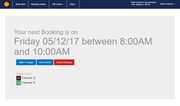 Launch27 - Booking confirmation