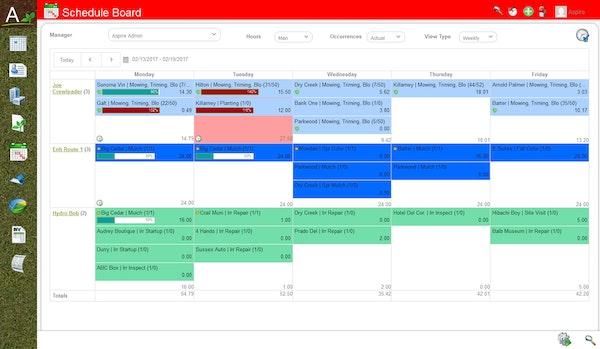 Aspire - Schedule board