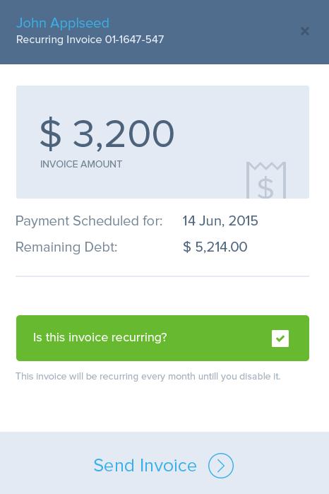 Send invoice