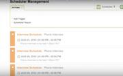 Scheduler management