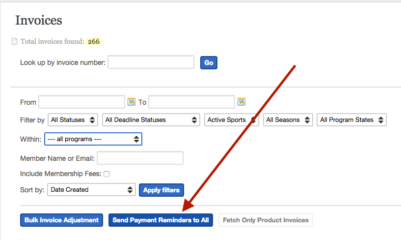 Payment invoices