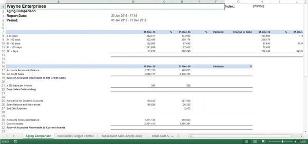 Excel report generation