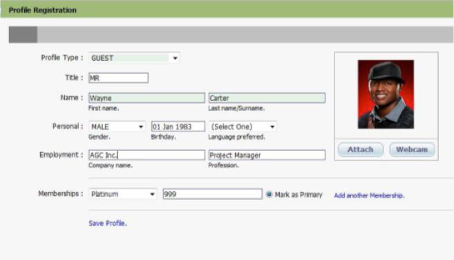 Profile registration