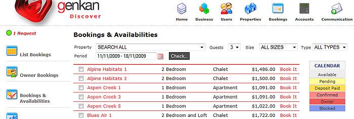 GENKAN - Bookings and availabilities