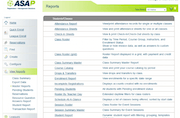 Reports page