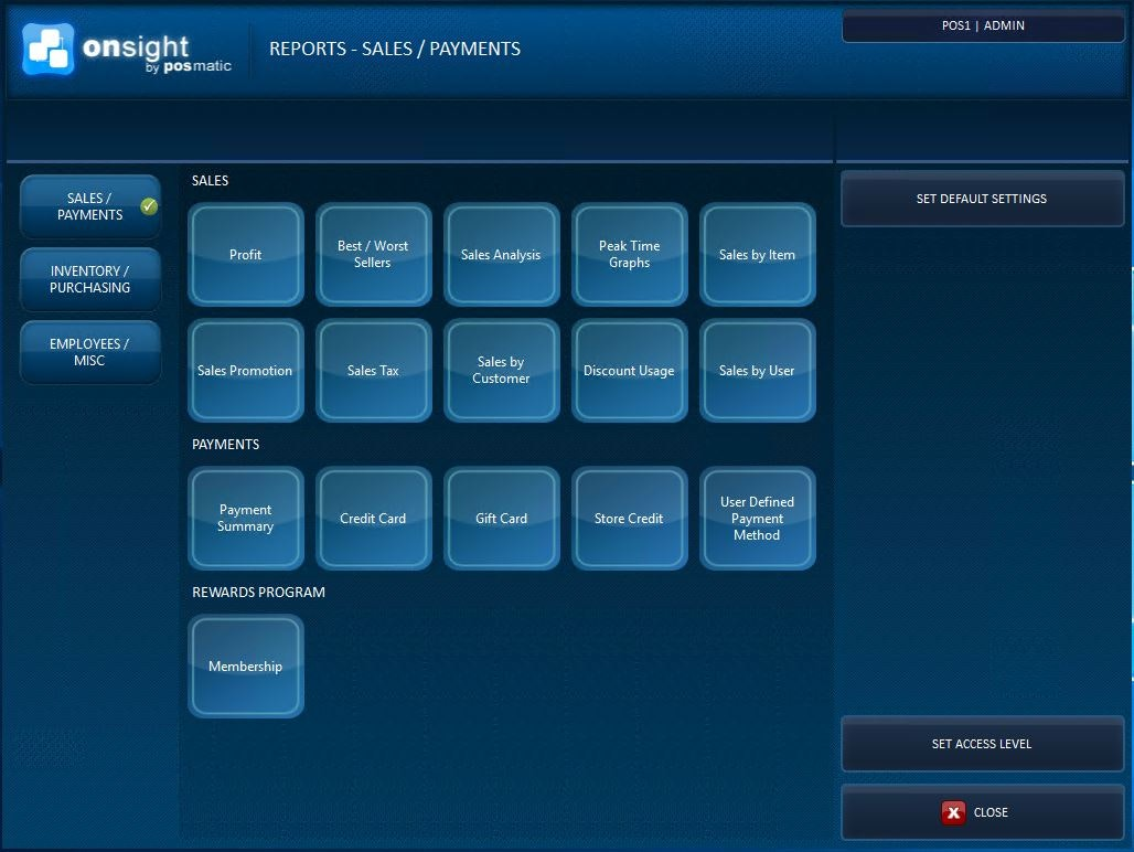 ONsight POS - Reports