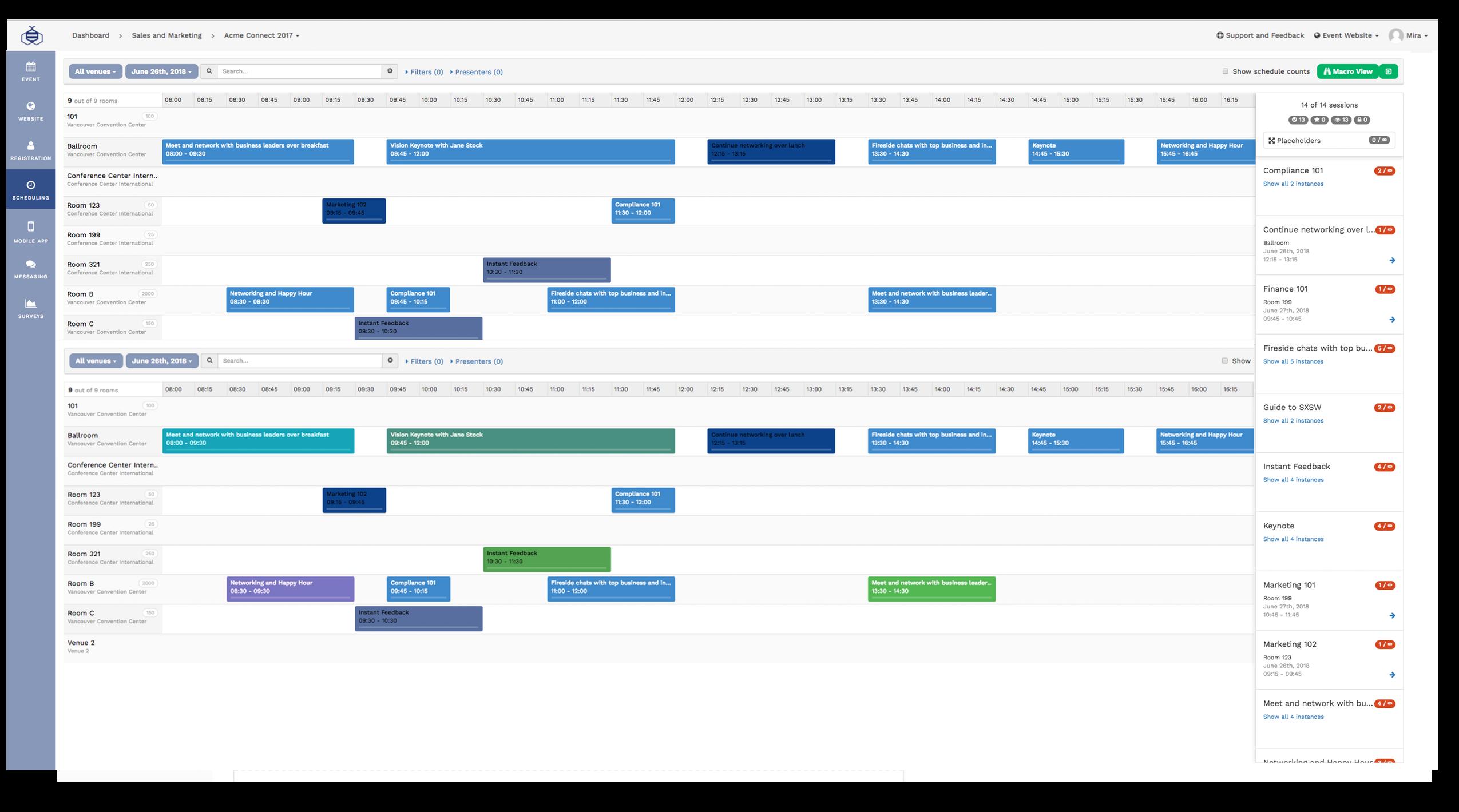 Schedule builder