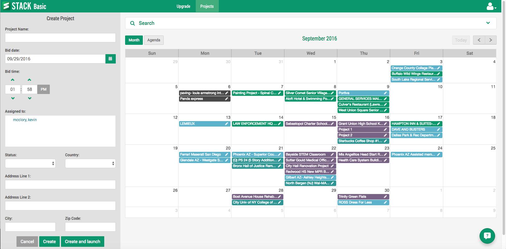 Bid calendar