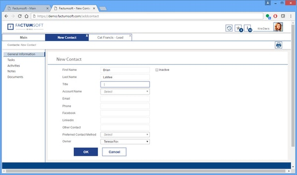 Factumsoft - Contact management