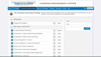 Learning catalog