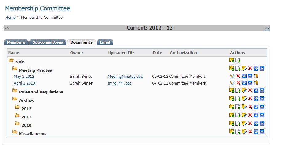 Membership committees