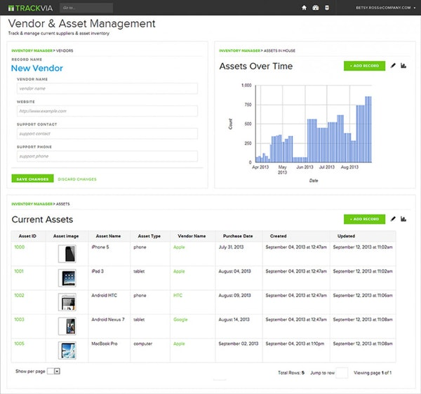 Track and manage inventory