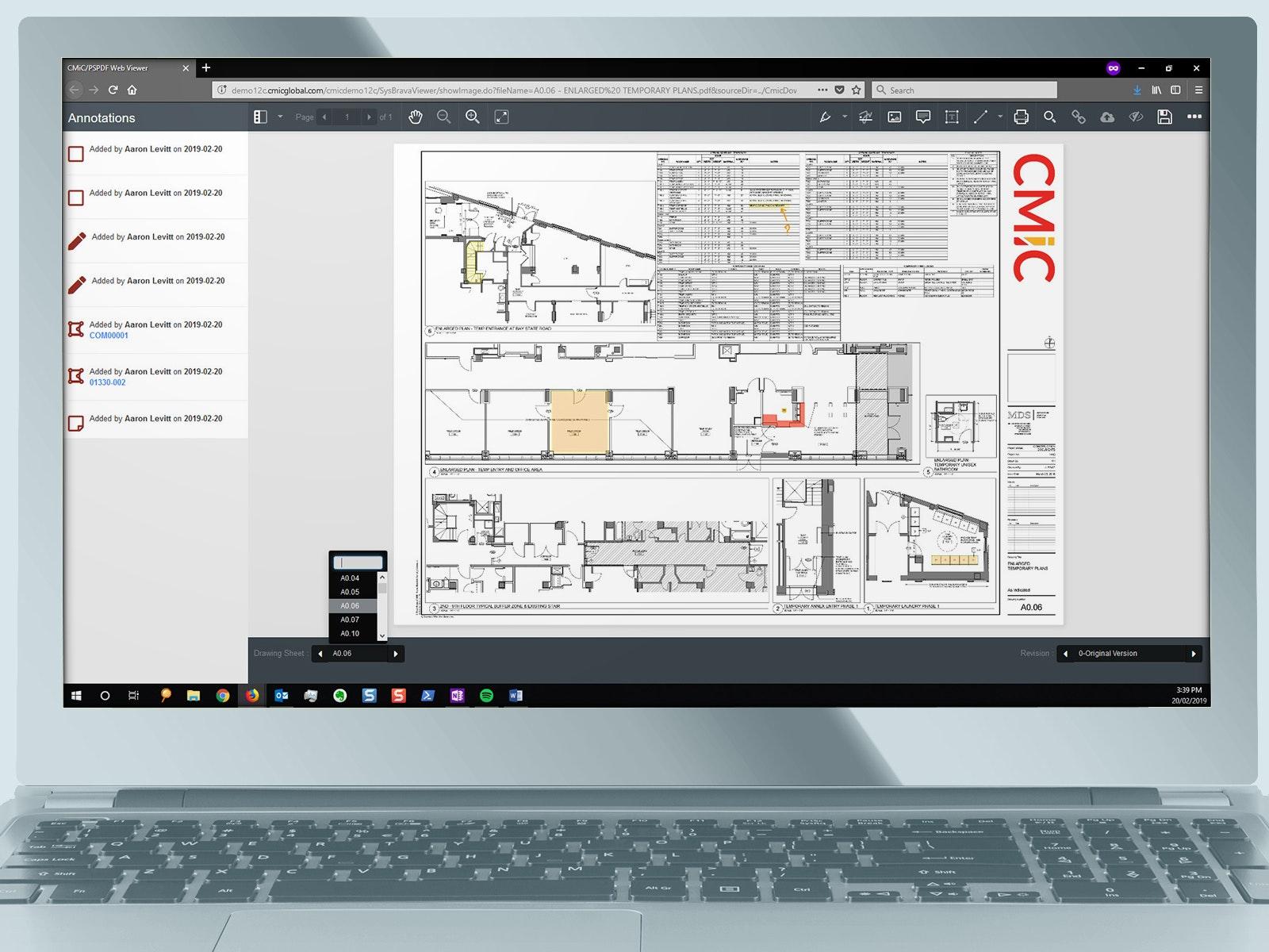 CMiC - drawing management