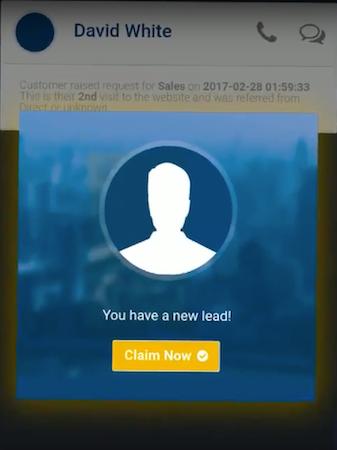 Mobile lead alert