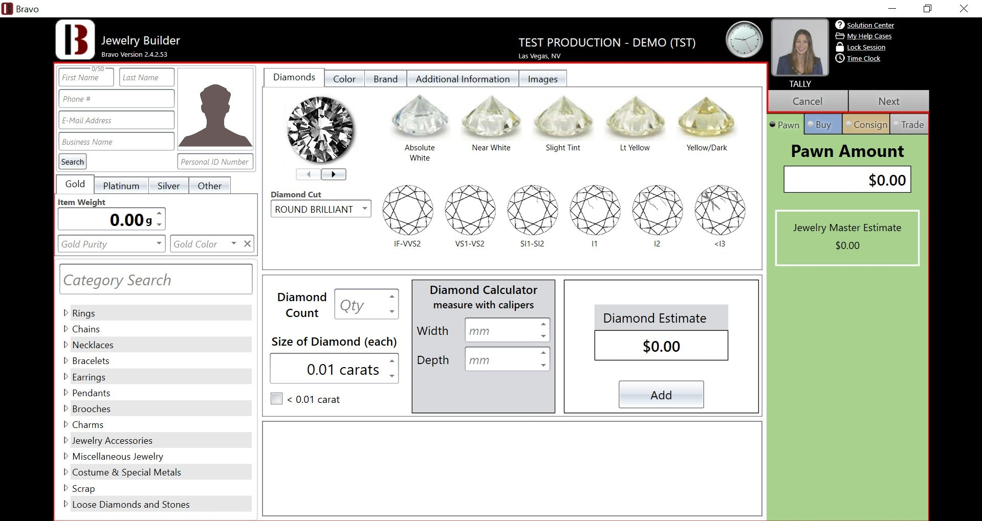 Jewelry Estimator