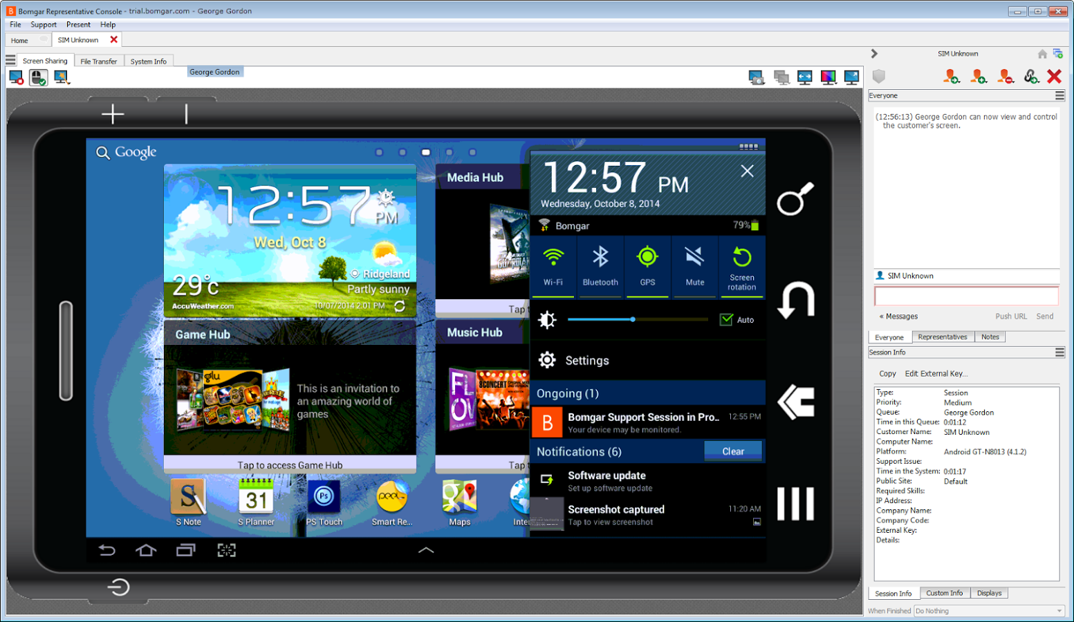 Bomgar - Android app