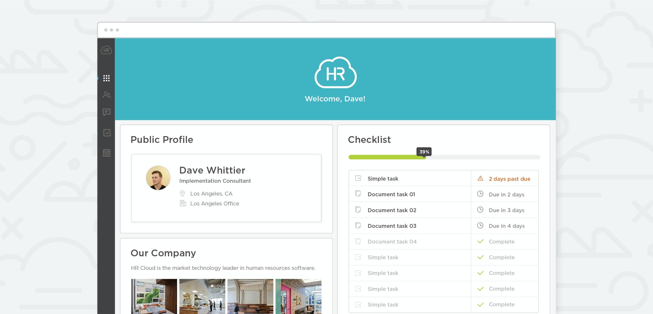 HR Cloud - Desktop onboard