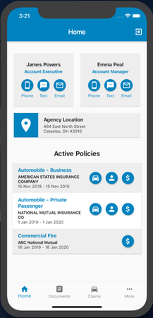 Agency-branded Mobile App