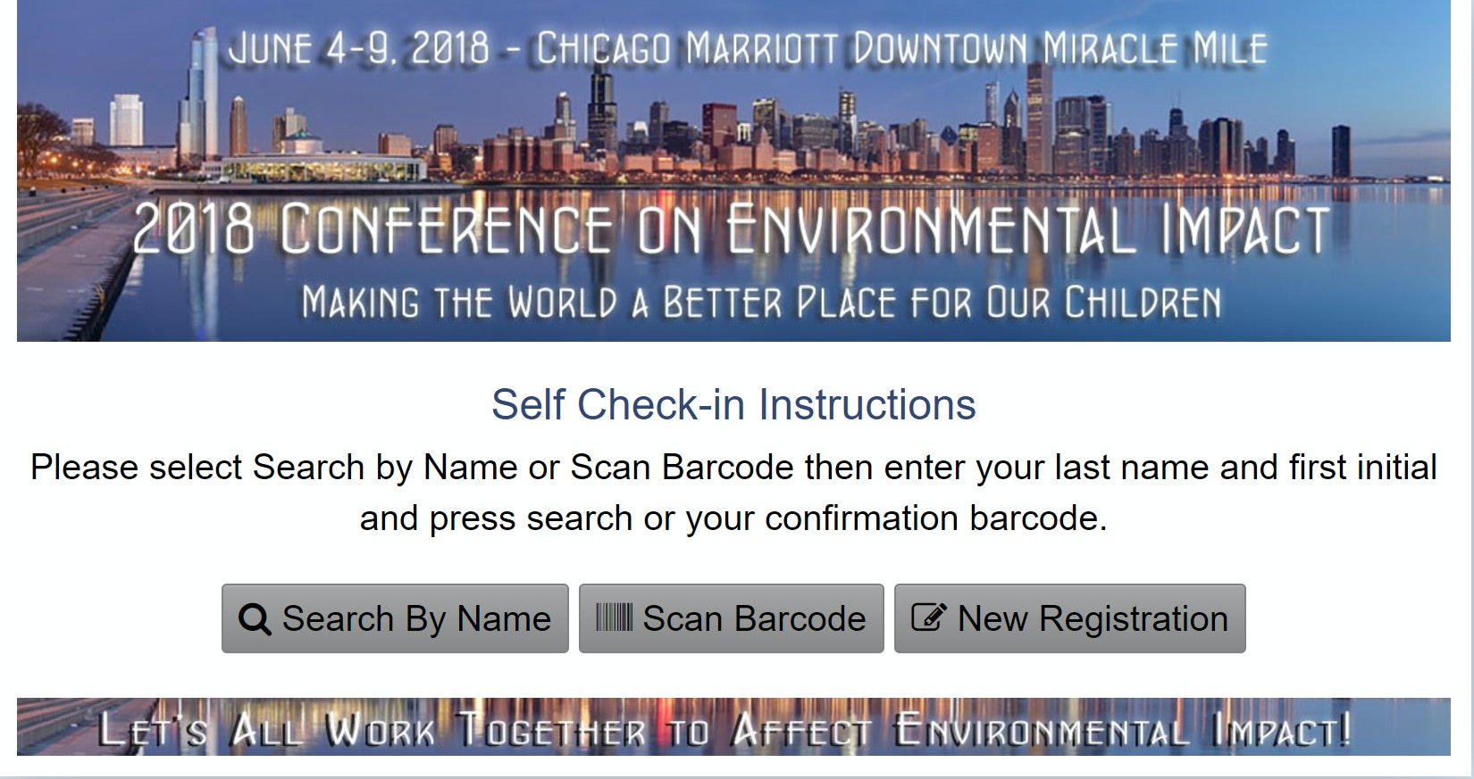 Sample conference site