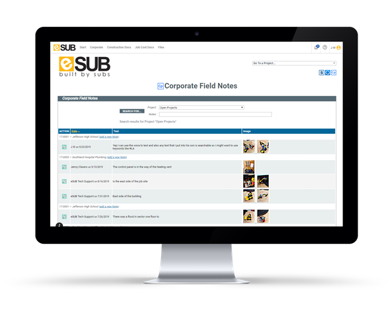 eSUB field notes