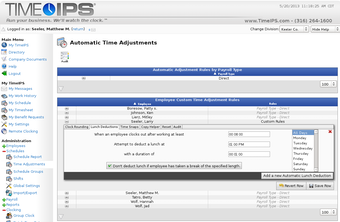 Automatic time adjustments