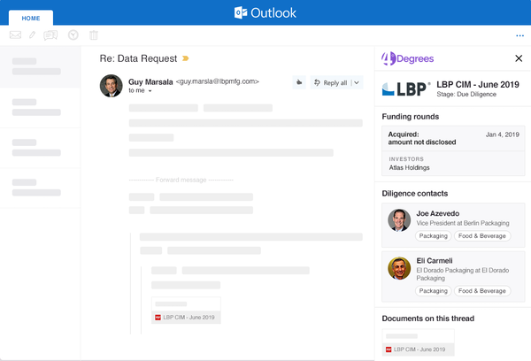 Manage deals in Outlook
