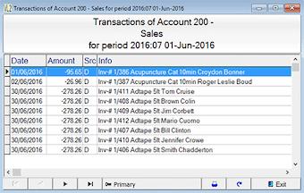 Sales transactions
