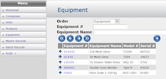 Equipment log summary