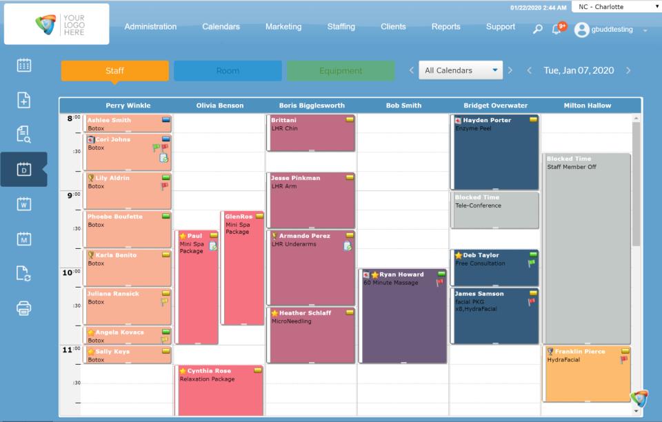 Aesthetics Pro Online - Calendar View