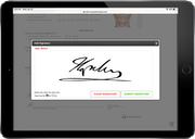 Capture signatures electronically
