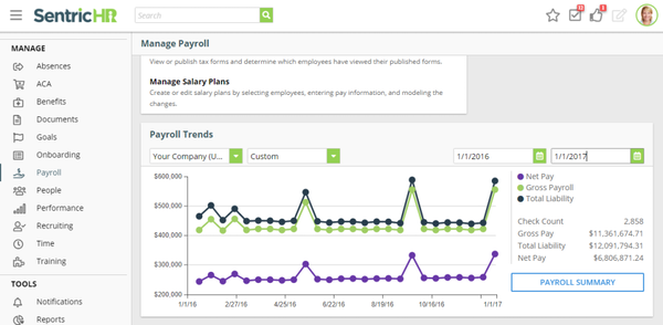 Sentric HR - Manage Payroll