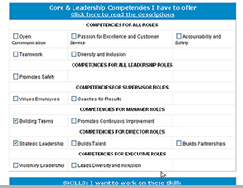 Select competencies