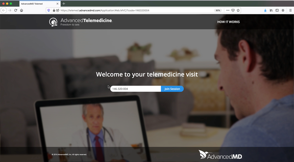 Joining a telemedicine session