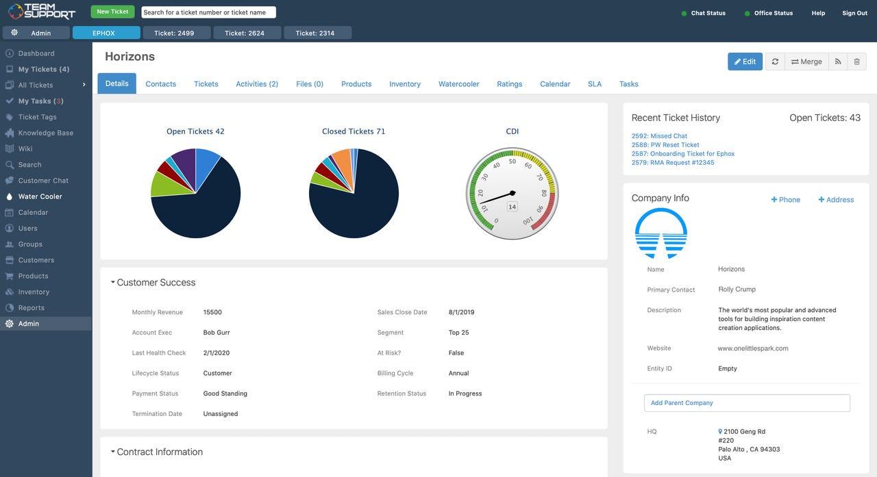 TeamSupport - Customer database