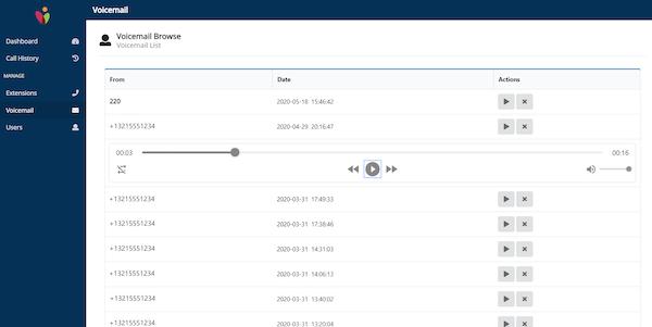 Vonix Flex Voicemail Portal