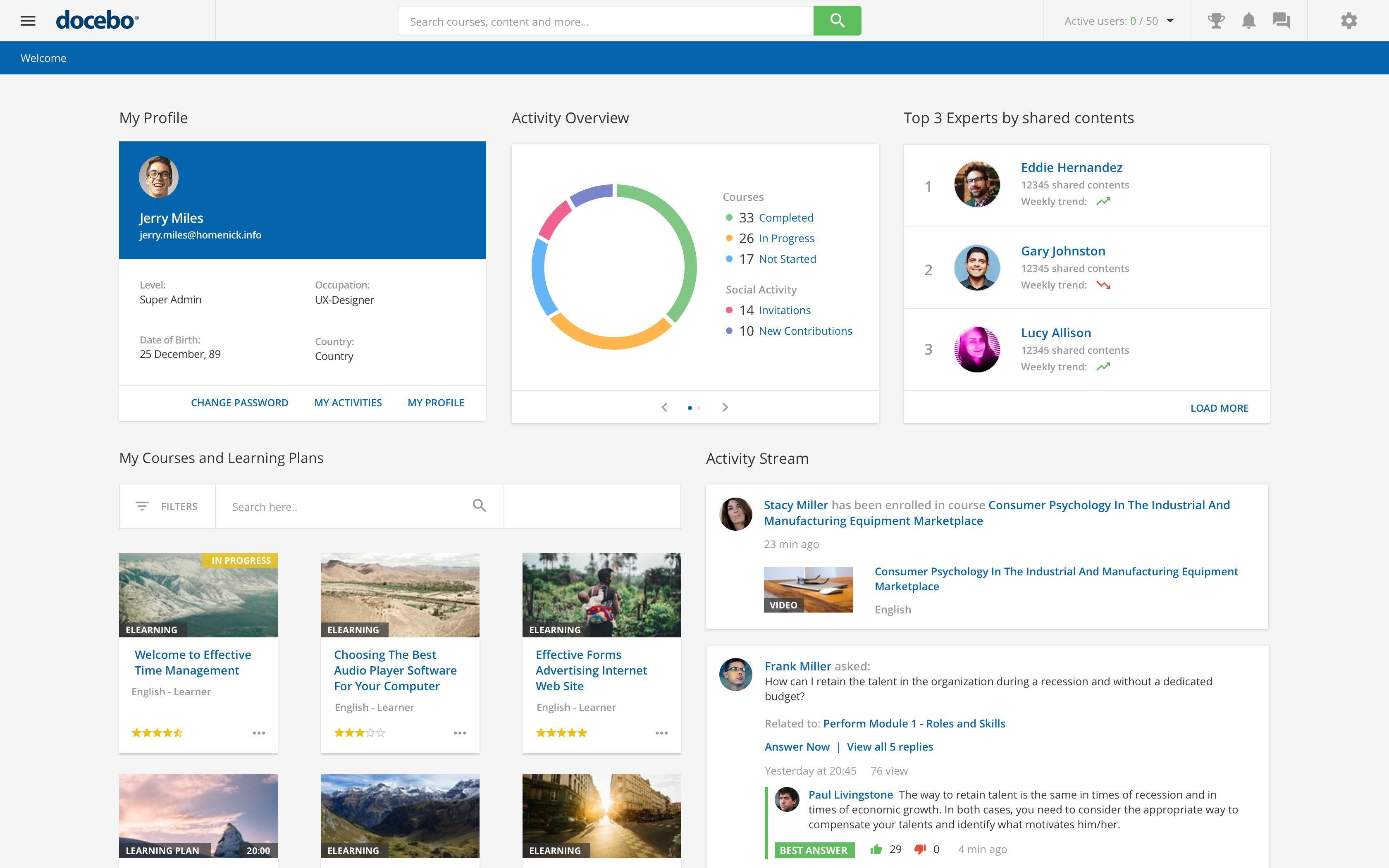 Docebo LMS - Docebo Pages