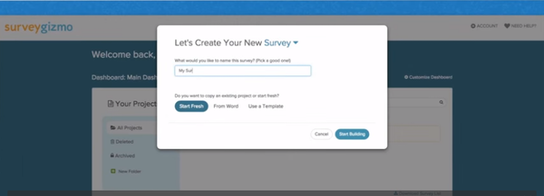 Survey creation